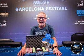 Sergio Alonso, celebrando el triunfo. 888poker